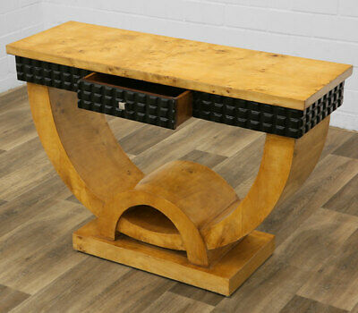 ART DECO CONSOLE TABLE in SYCAMORE - KONSOLENTISCH mit SCHUBLADE Ahorn-furniert