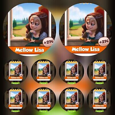 10x Mellow Lisa ### Coin Master Cards (Fastest Delivery)