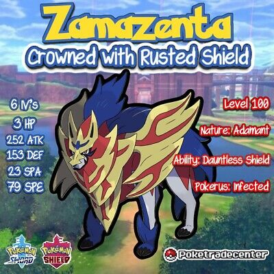 Pokemon Sword And Shield Zamazenta Crowned/Rusted Shield/Crowned/6iv/Pokerus