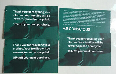 (4) H&M 15% off entire purchase coupon (store & Online) Expire Feb /28/2021