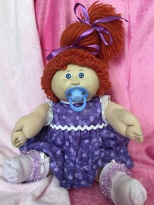 Vintage Coleco Paci Red Hair Blue Eyes ~ PACIFIER ~ DRESSED IN ALL NEW CLOTHING