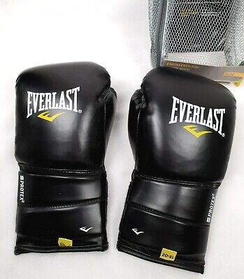 EVERLAST Protex 2 Black 16 oz Boxing Gloves Training, Sparring Mitts With Bag
