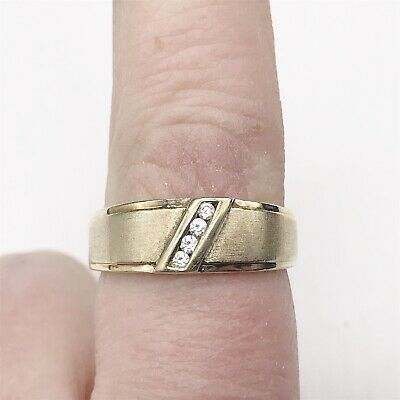Vintage Solid 9Ct Gold On Sterling Silver Gents Signet Soul Mate Ring Size U
