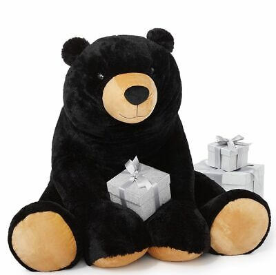 "Holiday Collection VALENTINE 36"" high Black Plush Bear NEW MSRP $530"