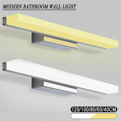 Modern Bathroom Toilet Vanity Wall Makeup Light Mirror Front LED Lamp