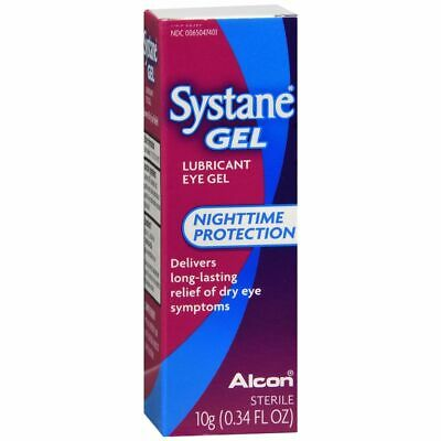 Systane Nuit Protection Lubrifiant Eye Gel - 10 ML (3 Paquets)