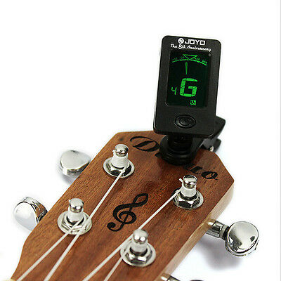 Chic Clip-on LCD Digital Chromatic Electronic Guitar Tuner Bass Violin Ukulele J