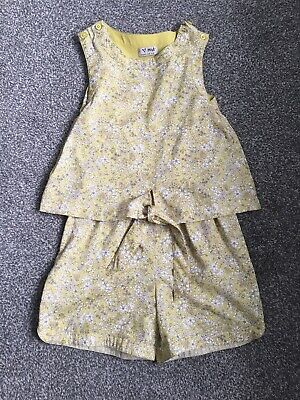 BNWOT Girls Child's next Short Summer Jumpsuit Age 7 Years New