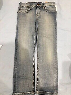 New Boys Jeans 4-5y Denim Trousers Washed Slim Light Blue Stretch H&m