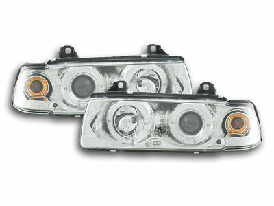 Scheinwerfer Set Angel Eyes BMW 3er E36 Limo/Touring Bj. 92-98 chrom
