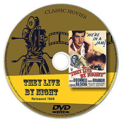They Live By Night 1949 DVD Film Cathy O'Donnell, Farley Granger - Crime Romance