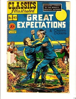 Classics Illustrated 43: Great Expectations (1947):Orig:FREE to combine: Fair/Gd