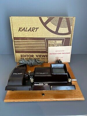 Kalart Editor Viewer Eight Vintage in Box Instructions Wood Splicer Editing