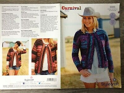 Stylecraft Knitting Pattern #8548 Ladies Chunky Cardigan #17550