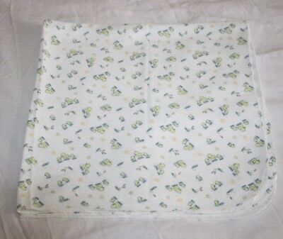Fisher Price RECEIVING BABY BLANKET DUCKS CHICKS Thin Cotton Flannel Swaddling