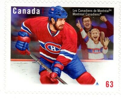 2013 MONTREAL CANADIENS TEAM JERSEY SINGLE FROM BKT#549, UC#2671, 63c,  VF MNH