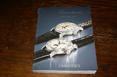 Important Watches Christie's Sale Catalogue Geneva 2008 Prices Realised Included