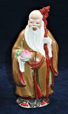 Vintage Chinese Wise Man or Immortal, SAU God of Longevity, 8 1/2""