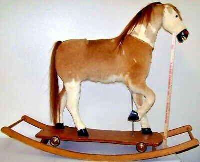 Large Rocking/Plank Horse covered in horsehide