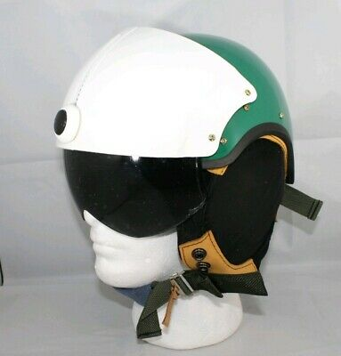 Monster Energy Cosplay Jet Pilot Fun Toy Helmet w/ Leather Ear Flaps and Visor