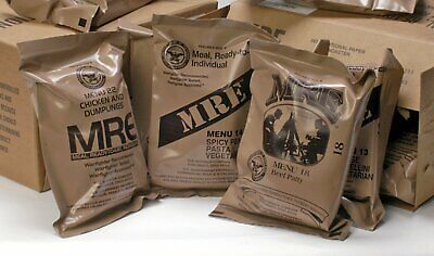 MRE U.S. MILITARY Case A/B 4 Random Draw - MEALS READY TO EAT
