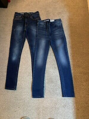 2 Pairs Of Boys Super Skinny Next Jeans Age 10 - Good Condition