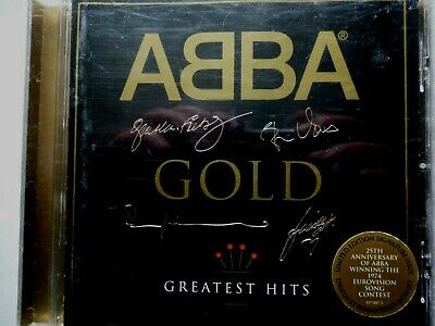 CD ALBUM - ABBA - Gold (Greatest Hits, 1992) Signed cover