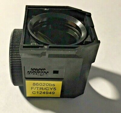 Nikon F/Tr/Cy5 Triple Fluorescence Filter For Te Microscopes, Dichroic Only