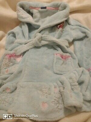 Lovely Girls Disney Frozen Blue Dressing Gown Age 4-5yrs
