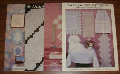 Lot of 4 Pattern Booklets for HANDANGER EMBROIDERY, Award Winning Designs 1994
