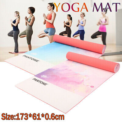 Yoga Mat for Pilates Gym Exercise Carry Strap Thick Large Non-slip Comfort PVC