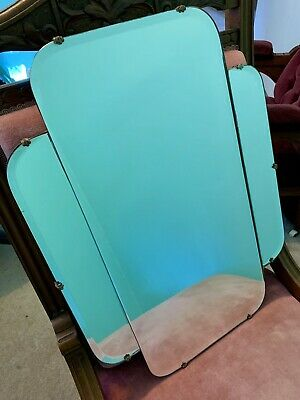 Vintage Antique Art Deco Perfect Condition Bevelled Retro Hanging Mirror