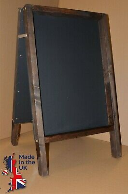 Wooden Framed A-Board Chalkboard Blackboard Chunky Pavement Advertising Pub