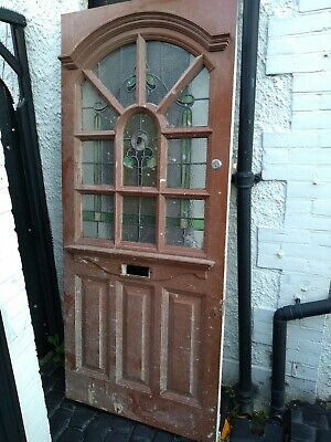 Edwardian 1920's Art deco Stained Glass Front Door ....HAS TO GO