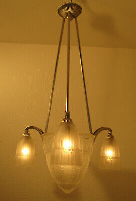 Beautiful French Art Deco Chandelier 1925 - Signed: Muller Frères Luneville