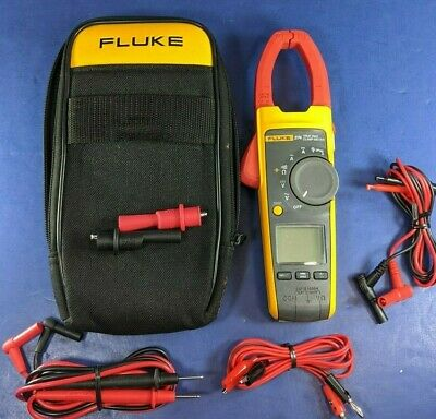 Fluke 374 TRMS AC DC Clamp, Excellent, Screen Protector, Soft, Accessories