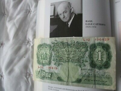 Nice 1930 Catterns (Gb/England) £1 Banknote