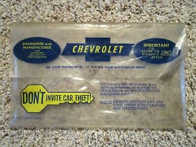 NEW 1966-1967 Chevy Chevelle or Malibu Owners Manual Storage bag