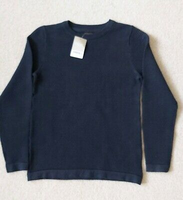 Next Boys Blue Long Sleeved Top Age 10 Yrs BNWT