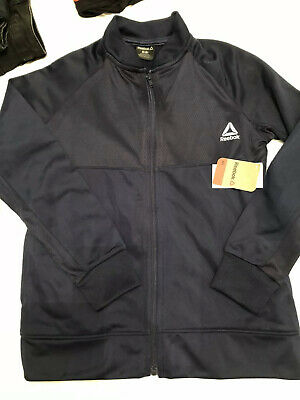 Boys Girls Reebok BNWT Training Tracksuit Top Age 7-8 8 Yrs Navy New Sports