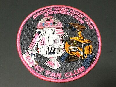 Star Wars R2-Kt Droids Need Hugs Too Wall-E Embroidered Fanclub Patch New 4""