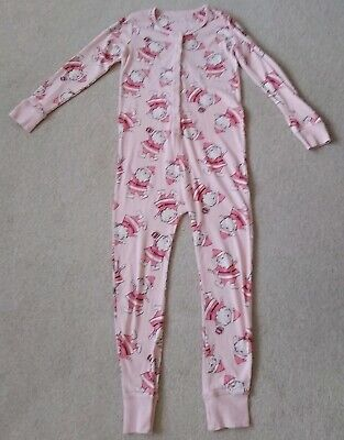 Next Girls Lovely Pink Santa claus Christmas One Piece Pyjamas Age 9 Yrs