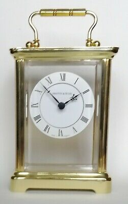 Mappin And Webb Brass Carriage Clock - Good Working Order - QUARTZ