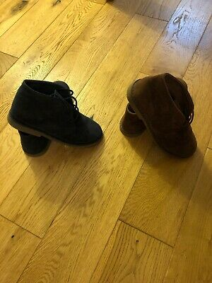 Two Pairs Of Primark Rebel Boys Suede Boots UK Size 13