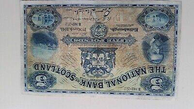 1941 LARGE SIZE EARLY  ISSUE - £5 NATIONAL BANK OF SCOTLABND - Good VF Grade