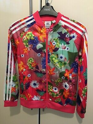 Girls Adidas Floral Tracksuit Top 11-12yrs