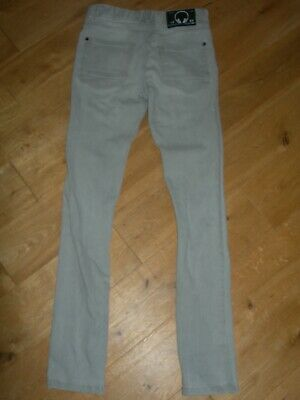 Next Jeans Trousers Age 12 Grey Super Skinny 99% Cotton Adjustable Waistband