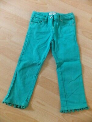 Girls cropped green jeans.  Age 9 years.  From Next.