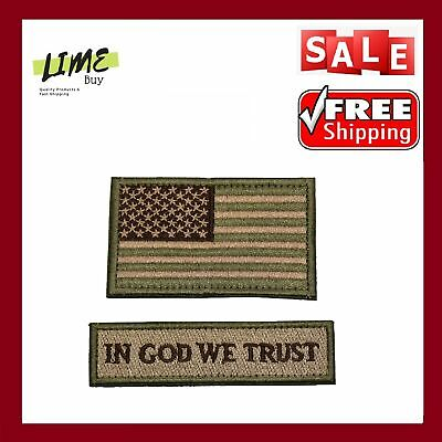 Tactical Operator Cap with USA Flag In God We Trust 1776 Patch One Size Fit Most