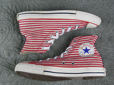 CONVERSE All Star Size 5.5 Hi Top American Flag Spec Canvas Sneakers Trainers